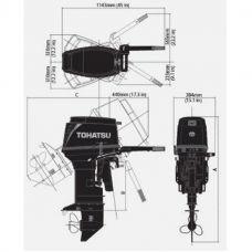 Лодочный мотор TOHATSU M 40 EPTO S