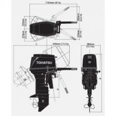 Лодочный мотор TOHATSU M 40 S